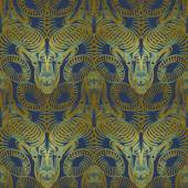 Repaint seamless pattern: bronze ram — Stock Vector