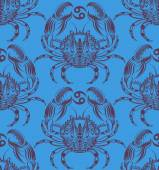 Repaint seamless pattern: crab — Stock Vector