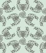 Repaint seamless pattern: scorpions — Stock Vector