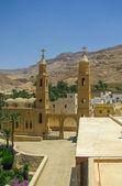 Egyptský křesťanský klášter — Stock fotografie