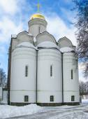 Church on the winter background.Moscow — Stock Photo