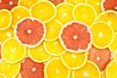 Slices of lemon and grapefruit — Stock Photo