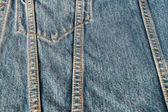 Pattern of blue jeans For background. — Stock Photo