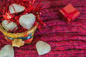 Valentines Day background with basket of love. Love concept. — Foto Stock