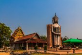 Buddha statue on blue sky, Watklang Photharam, Ratchaburi Thaila — Stock Photo