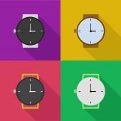 Outline icons of watches — Stockvector
