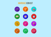 Set of outline marriage icons — Stock Vector