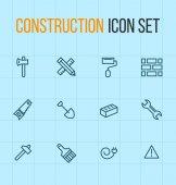Konstruktion ikonuppsättning — Stockvektor