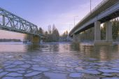 Arctic bridges — Stock Photo