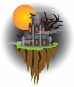 Halloween Castle — Stock Vector