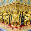 The golden garuda statues at Grand Palace or Temple of the Emera — Stock Photo #53793031