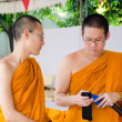 BANGKOK ,THAILAND - 9 JULY 2014 : Unknown two monks in Buddhism  — Stock Photo #53793101