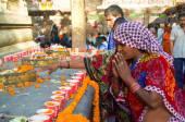Indian people female praying — Stock Photo