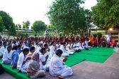 Indian people pray — Stock Photo