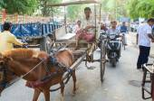 People carriage in India — Stock Photo