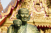 A monk statue  in Wat Mahaeyong Buddhism Temple in Nakhon Si Tha — Stock Photo