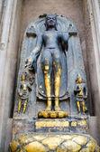 Obrazu buddy w świątyni mahabodhy w indie bodhgaya, bihar. — Zdjęcie stockowe