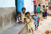 Unknow Indian children in slum of Gaya City — Stock Photo