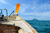 Long tail boat head — Stock Photo