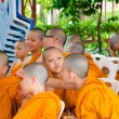BANGKOK ,THAILAND - 9 JULY 2014 : Unknown young novice monks in — Stock Photo #53812109