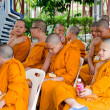 BANGKOK ,THAILAND - 9 JULY 2014 : Unknown young novice monks in — Stock Photo #53812123