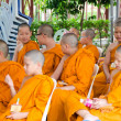 BANGKOK ,THAILAND - 9 JULY 2014 : Unknown young novice monks in — Stock Photo #53812143