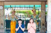 BANGKOK , THAILAND -20 JULY 2014 : Unknow People with hinduism r — Stock Photo