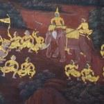 Thai mural paintings at Wat Phra Kaew Bangkok Thailand — Stock Photo #53958751