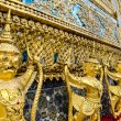 Golden staute of Garuda right side at Emerald Buddha temple, Kin — Stock Photo #53958783