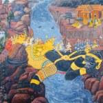 BANGKOK, THAILAND - JULY 5: Thai mural paintings at Wat Phra Ka — Stock Photo #53958809