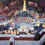 BANGKOK, THAILAND - JULY  5: Thai mural paintings at Wat Phra Ka — Stock Photo #53958845