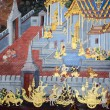 BANGKOK, THAILAND - JULY  5: Thai mural paintings at Wat Phra Ka — Stock Photo #53958897