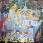 BANGKOK, THAILAND - JULY 5: Thai mural paintings at Wat Phra Ka — Stock Photo #53958921