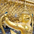 The golden garuda statues side view at Grand Palace or Temple of — Stock Photo #53958937
