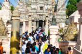 GAYA,INDIA - 14  May 2014 :People wait for queue to go to Mahabo — Stock Photo