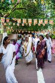 Unknown People around Mahabodhigay Temple — Stock Photo