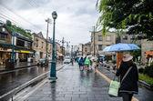 Raining Day in Otaru Town of Japan — Zdjęcie stockowe
