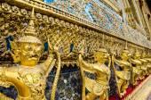 Golden staute of Garuda right side at Emerald Buddha temple, Kin — Stock Photo