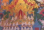 Thajském stylu nástěnná malba: příběh buddhy — Stock fotografie