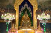 Golden Buddha image in Bangkok,Thailand — Stock Photo