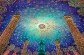Beautiful Interior at Wat Paknam Bangkok,Thailand — Stockfoto