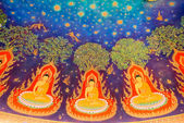 Thai style  mural painting  at Wat Paknam in Thailand — ストック写真