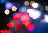 Blur bokeh traffic light  in urban at night  — Stock Photo