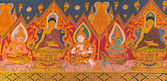 Thai Style Mural Painting in Wat Hualamphong Thailand — Stock Photo