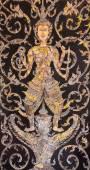 Temple gate detail of Wat Hualamphong — Stock Photo