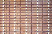 Wooden locker in Japanese shinto temple — Stockfoto