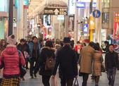 Crowd People around Kansai in Osaka,Japan — Foto de Stock