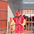 Korean  male in ancient soldier  costume vertical — Stock Photo #69717469