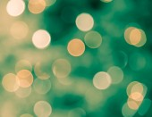 Blur bokeh defocused of light in green and yellow background — Stok fotoğraf