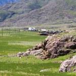 Altai mountains village — Stock Photo #54996359